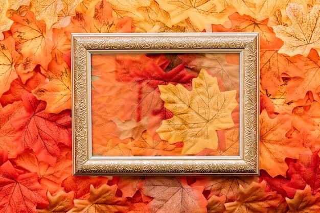 Cadre d'automne transparent vintage