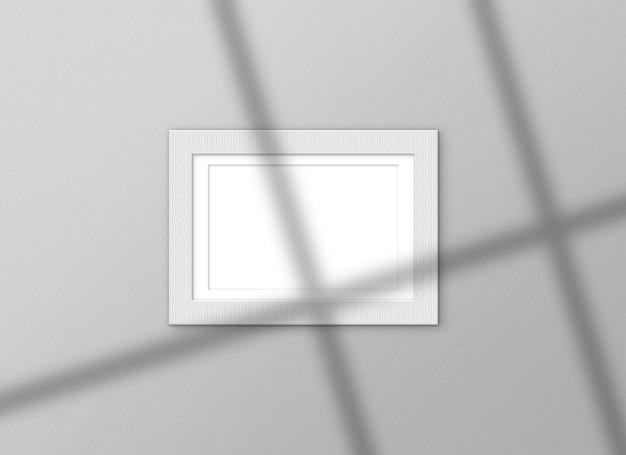 Cadre blanc avec des ombres