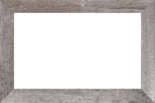 Cadre en bois blanc. concept vintage.