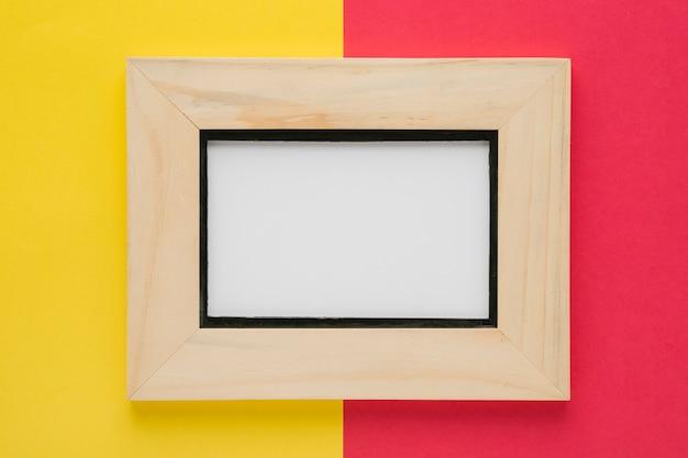 Cadre en bois minimaliste vue de dessus