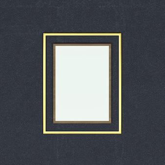Cadre en bois et or et une zone de texte blanche