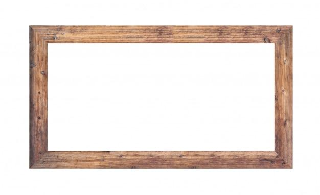 Cadre en bois photo isolé sur blanc.