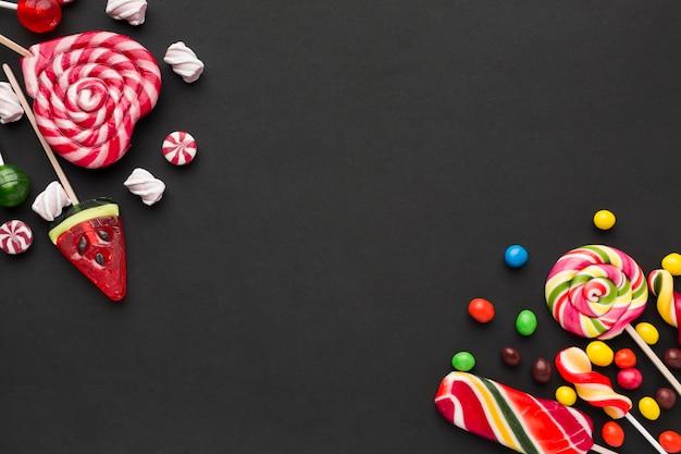 Cadre de bonbons avec espace copie