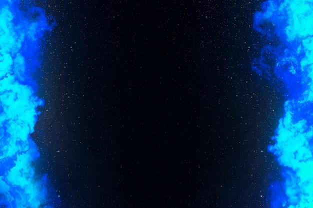 Cadre de bordure de feu brûlant bleu
