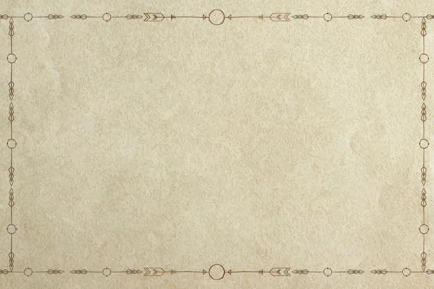 Cadre de bordure de ligne de style doodle tribal