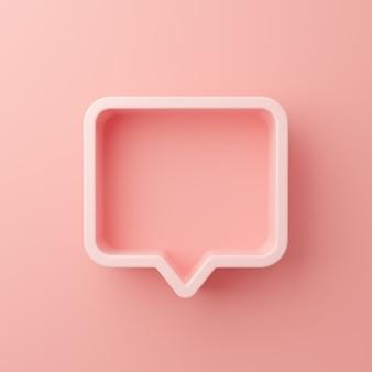 Cadre de bulle de message avec un espace vide