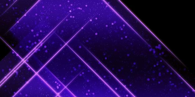 Cadre carré abstrait brillant sentiers de lumière et illustration 3d de bokeh