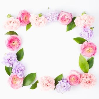 Cadre carré pastel fleuri