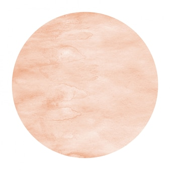 Cadre circulaire aquarelle dessiné main orange