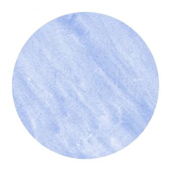 Cadre circulaire aquarelle dessinée à la main bleue
