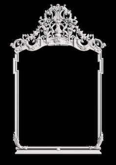 Cadre classique avec décor d'ornement sur mur noir