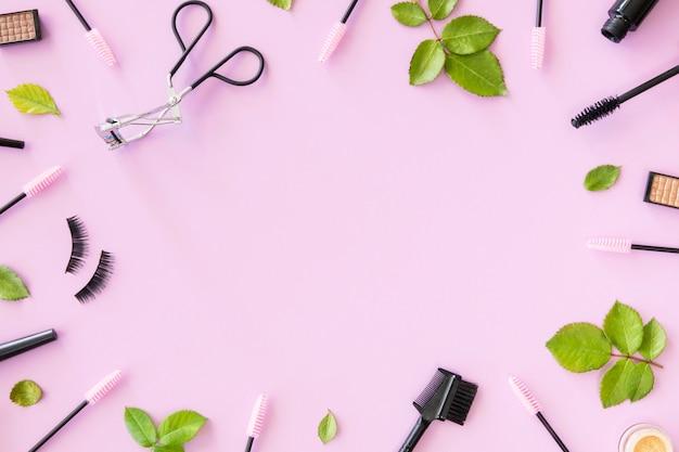 Cadre de cosmétiques de beauté