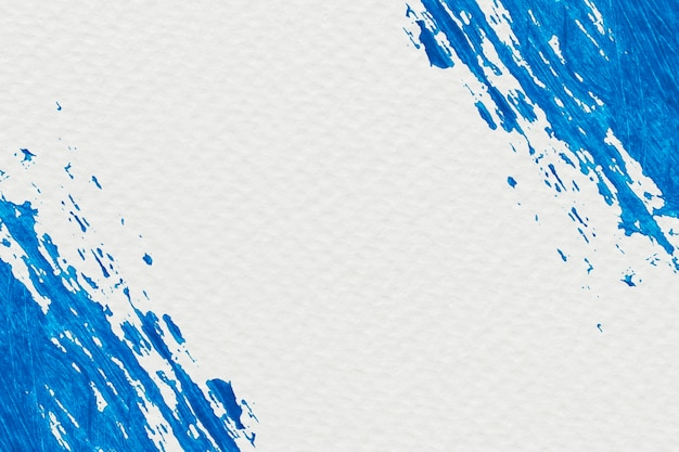 Cadre de coup de pinceau bleu