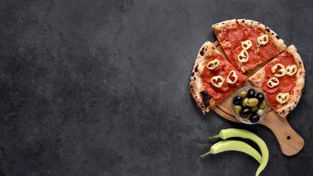 Cadre de cuisine italienne à plat
