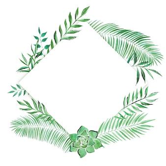 Cadre décoratif botanique dessiné à la main
