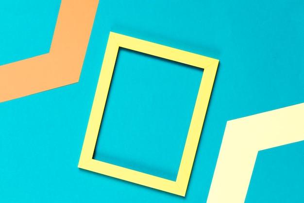 Cadre décoratif coloré vue de dessus