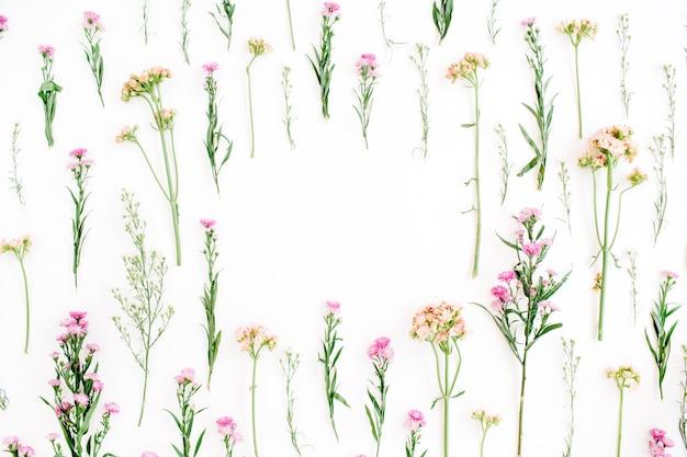 Cadre avec un design de fleurs sauvages colorées