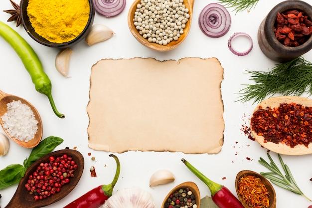 Cadre de la diversité des condiments