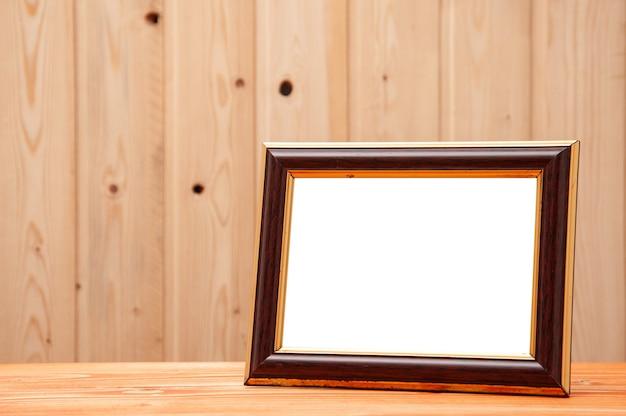 Cadre doré avec insert azur pour photos et peintures