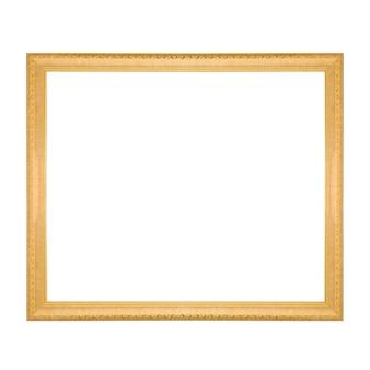 Cadre doré avec un motif isolé sur blanc