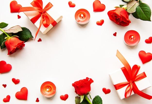 Cadre d'éléments saint valentin