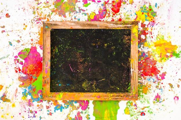 Cadre entre couleurs sèches vives
