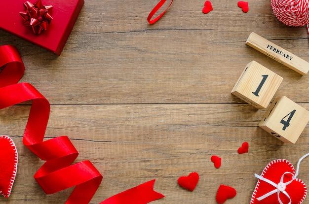 Cadre avec espace de copie pour carte de voeux pour la saint-valentin