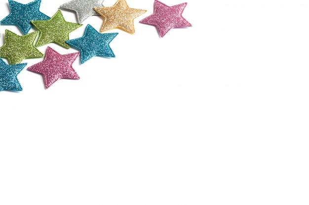 Cadre d'étoiles sur blanc