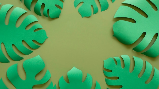Cadre de feuilles de papier