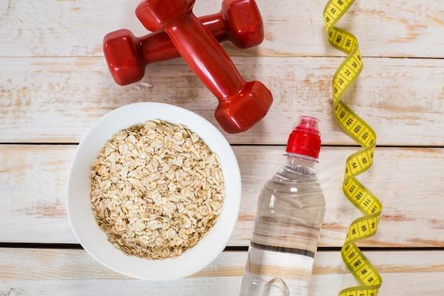 Cadre de fitness avec petit-déjeuner énergétique