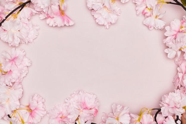 Cadre de fleurs pour la fête des mères
