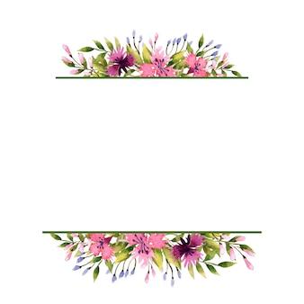 Cadre de fleurs sauvages.