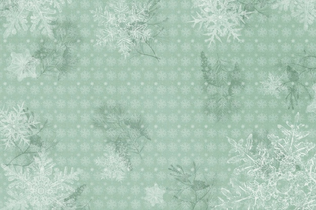 Cadre de flocon de neige de salutations de saison, remix de photographie par wilson bentley