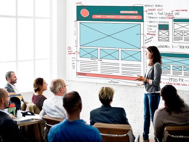 Cadre graphique de conception du concept de croquis de formulaire