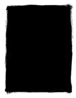 Cadre grunge noir et blanc isolé