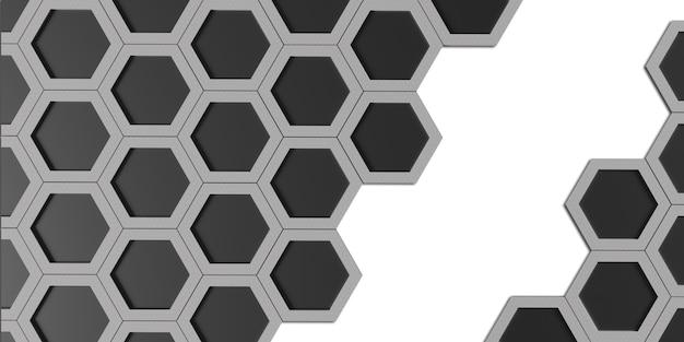 Cadre hexagonal hexagone lumineux matériau en acier hexagonal effet bokeh abstrait