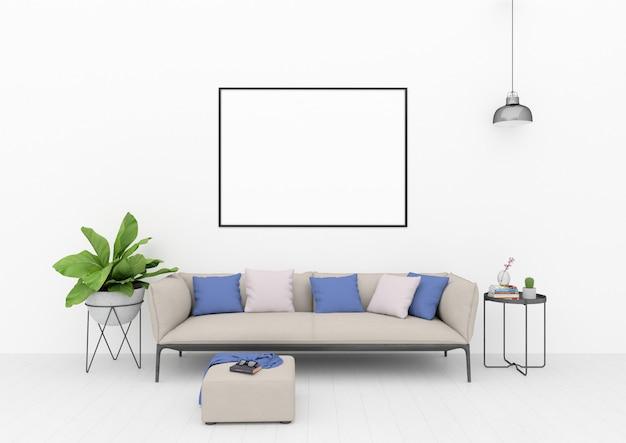 Cadre horizontal - chambre scandinave