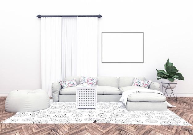 Cadre horizontal - peinture de fond