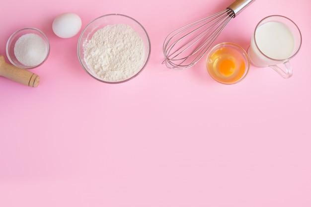 Cadre d'ingrédients alimentaires pour la cuisson