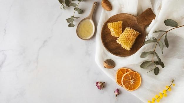 Cadre d'ingrédients de savon avec espace de copie