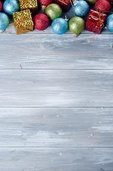 Cadre de jouets colorés de noël