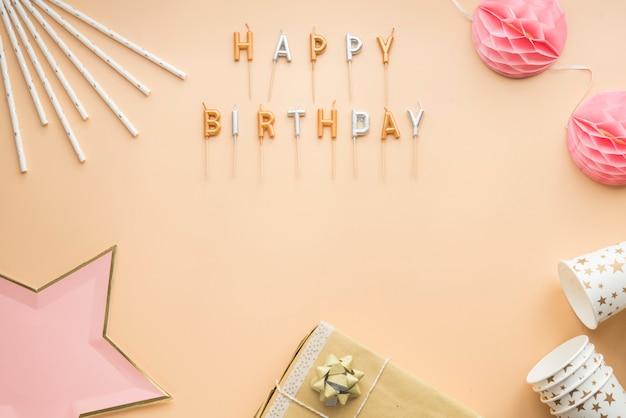 Cadre de joyeux anniversaire fête célébration