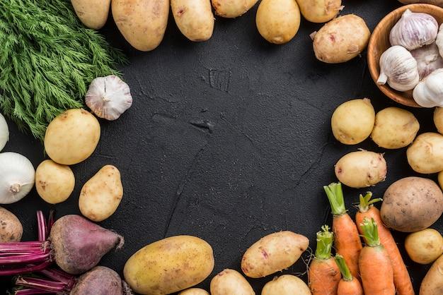 Cadre de légumes biologiques