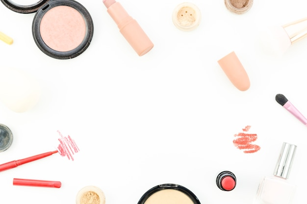 Cadre de maquillage vue de dessus
