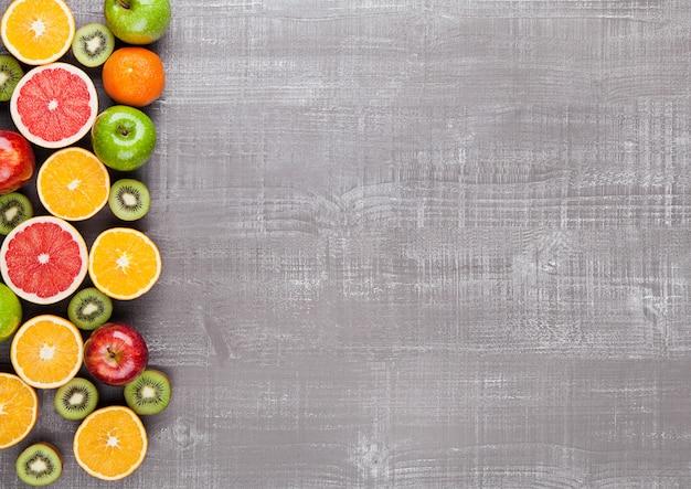 Cadre de mélange de fruits