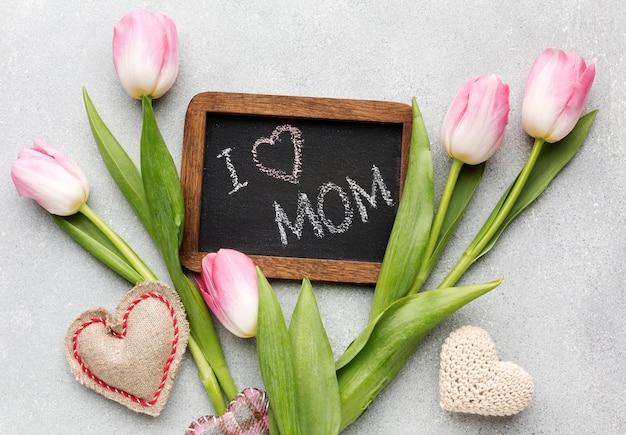 Cadre avec message pour la mère