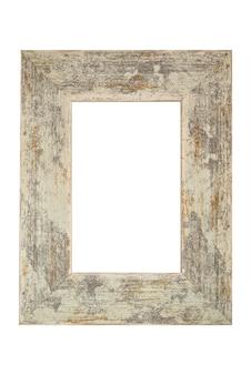 Cadre minable à l'ancienne en bois isolé