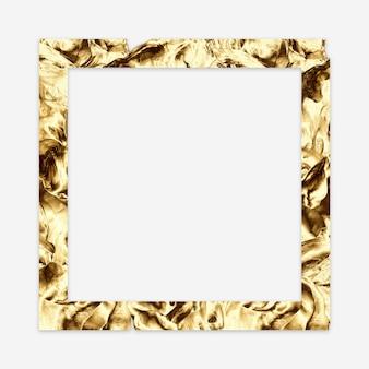 Cadre minimal abstrait doré