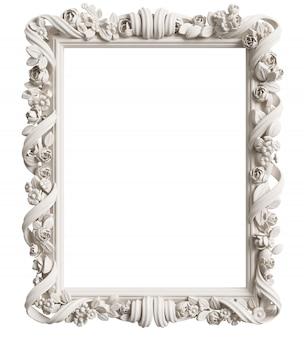 Cadre miroir classique. rendu 3d