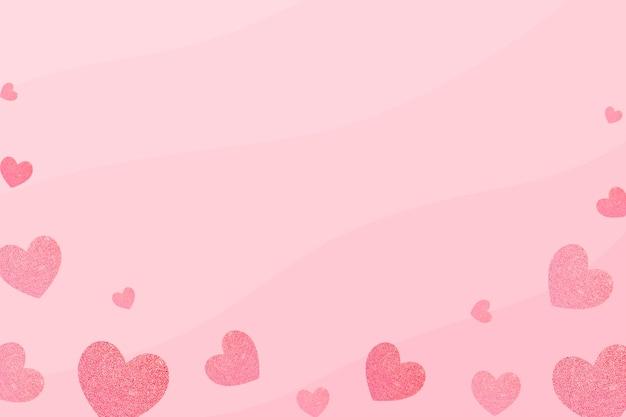 Cadre à motifs coeur sur fond rose